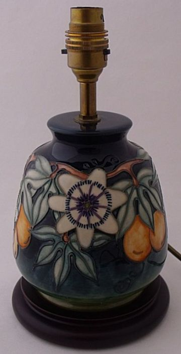 Moorcroft Pottery Passion Fruit Lamp Base Designed By Rachel Bishop